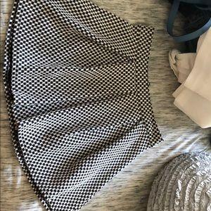 Bethany Mota black and white striped skirt